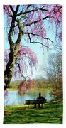 View Of The Lake In Spring Beach Towel