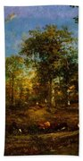 View Of The Pastures Of The Limousin 1835 Beach Towel