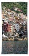 View Of The Riomaggiore, La Spezia Beach Towel