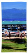 View Of The Selkirk Mountains Beach Towel