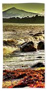 View Of The Sugarloaf Mountain From Killiney, 1b Beach Towel