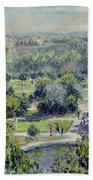 View Of The Tuileries Gardens Beach Sheet