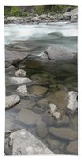 View Of The Wenatchee River Beach Towel