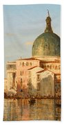 View Of Venice With San Simeone Piccolo Beach Towel