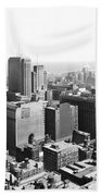 View Over Downtown Chicago Beach Towel