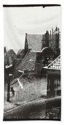 View Over Rooftops In Amsterdam  George Hendrik Breitner  C  1890    . 1910 Beach Towel