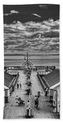 View Over The Pier Mono Beach Towel