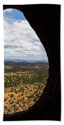 View Through A Portal, Sedona, Arizona Beach Towel