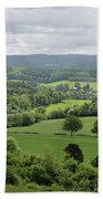 View Of The Surrey Hills From Newlands Corner Beach Towel