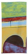 Village And Bridge Beach Towel