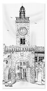 Village Gate In Old Le Thor France Beach Towel