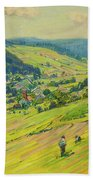 Village In The Foothills Beach Towel