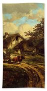 Village Landscape 1844 Beach Towel