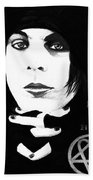 Ville Valo Portrait Beach Towel