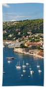 Villefranche-sur-mer And Cap De Nice On French Riviera Beach Towel