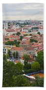 Vilnius Panorama From The Hill Of Three Crosses Beach Towel
