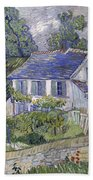 Vincent Van Gogh, Houses At Auvers Beach Towel