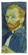 Vincent Van Gogh Self-portrait 1889 Beach Sheet