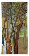Vincent Van Gogh, The Garden Of Saint Paul's Hospital Beach Towel