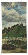 Vincent Van Gogh, The Hill Of Montmartre With Stone Quarry, Paris Beach Towel