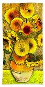 Vincent's Sunflowers Beach Towel