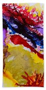 Vines And Glow Abstract Beach Towel