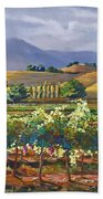 Vineyard In California Beach Towel
