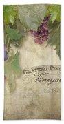 Vineyard Series - Chateau Pinot Noir Vineyards Sign Beach Towel