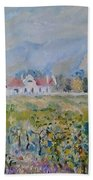Vineyards At Excelsior In Summer Beach Towel