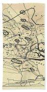Vintage 1692 Map Of Salem Massachusetts - 1866 Beach Towel