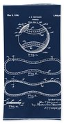 Vintage 1928 Baseball Patent Blue Beach Towel