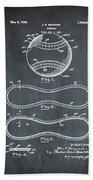 Vintage 1928 Baseball Patent Chalk Beach Towel