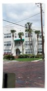 Vintage Florida Apt Bldg Beach Towel