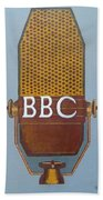 Vintage Bbc Mic Beach Towel
