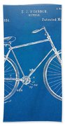 Vintage Bicycle Patent Artwork 1894 Beach Towel by Nikki Marie Smith