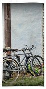 Vintage Bicycles The Journey Beach Towel