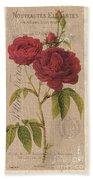 Vintage Burlap Floral 3 Beach Towel