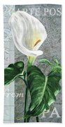 Vintage Calla Beach Towel