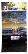 Vintage Car. Front View Beach Towel