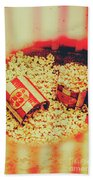 Vintage Carnival Snack Booth Beach Towel