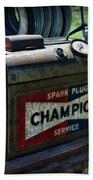 Vintage Champion Spark Plug Cleaner Beach Towel