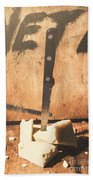 Vintage Cheese Crumble Beach Towel