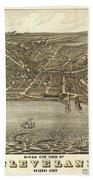 Vintage Cleveland Ohio Map Beach Towel