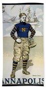 Vintage College Football Annapolis Beach Towel