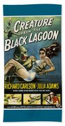 Vintage Creature From The Black Lagoon Poster Beach Towel