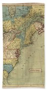 Vintage Discovery Map Of The Americas - 1771 Beach Towel