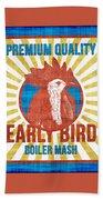 Vintage Early Bird Boiler Mash Feed Bag Beach Towel