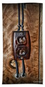 Vintage Electrical Outlet Beach Towel