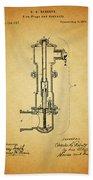 Vintage Fire Hydrant Beach Sheet