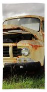 Vintage Flatbed Milk Truck Portrait Beach Towel